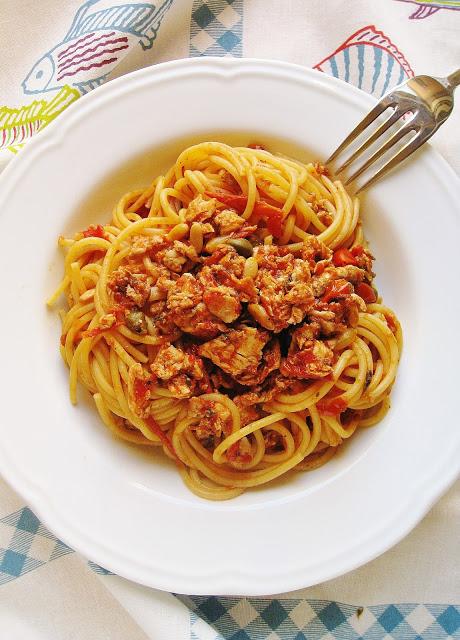 spaghetti al sugo di palamita